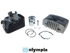 Olympia Ø43 mm Rennzylinder inkl. Kopf, Piaggio Si (axe 10mm)