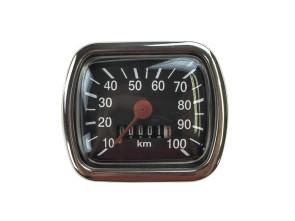 Tacho 100 km/h eckig universal