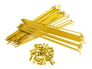 "19"" Speichenset gold inkl. Nippel (2.9 x 212 mm)"