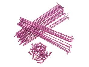 "19"" Speichenset pink inkl. Nippel (2.9 x 212 mm)"