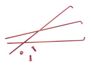 """19"""" Speiche einzeln rot inkl. Nippel (2.9 x 212 mm)"""