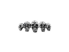 Emblem Totenköpfe Reihe verchromt (Klebefolie)