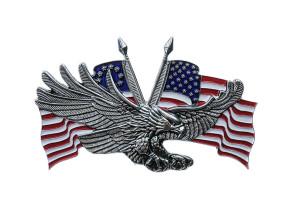 Emblem Adler USA Doppelflagge gross (Klebefolie)