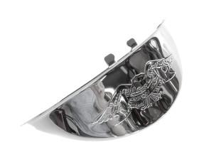 Scheinwerferspoiler Hawk Chrom universal mittelgross