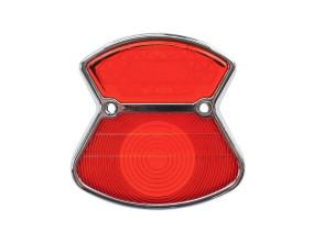 Rücklichtglas Zündapp Chrom / rot