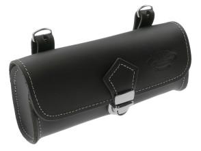 Satteltasche schwarz edel Echtleder