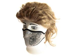 Gesichtsmaske Maori grau