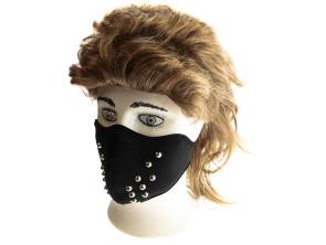 Gesichtsmaske Nieten schwarz