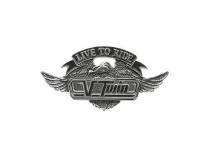 Emblem V-Twin klein (Klebefolie)