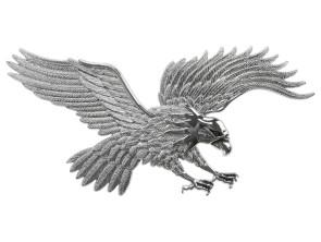 Emblem Adler Chrom riesig (Klebefolie)