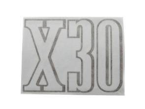 """Tankkleber """"X30"""" Puch schwarz"""