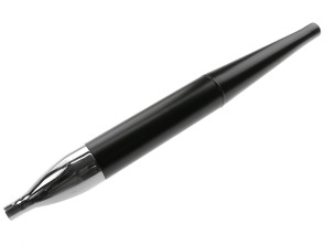 Endtopf Flöte schwarz / Chrom Ø32/70 mm universal