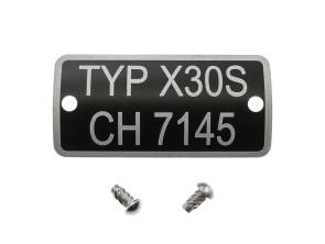 Typenschild X30S CH 7145