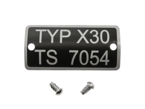 Typenschild X30 TS 7054