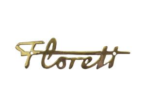 Tankemblem Florett Messing