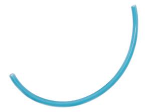 Benzinschlauch 30 cm blau transparent
