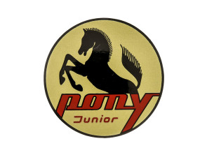 Pony Junior Wappen Tank Sachs Ø48 mm