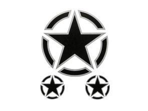 Sternen Aufkleber transparent Ø 82 / 31 mm