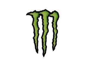 Monster Aufkleber 3D Silikon 70 x 45 mm