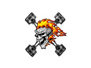 """Aufkleber """"Skull"""" (12x9.5 cm)"""
