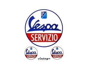 """Aufkleberset """"Vespa Servizio"""" (Ø 30/85 mm) Piaggio"""