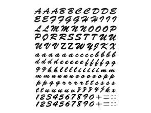 "Aufkleberbogen ""Letter Sticker"" (24x20 cm)"