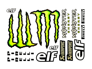 """Aufkleberbogen """"Monster Energy"""" (34x24 cm)"""