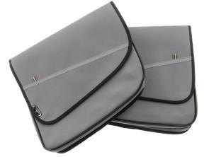 Gepäcktasche Elegance schmal grau