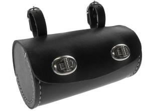 Satteltasche Tonnenform klein schwarz