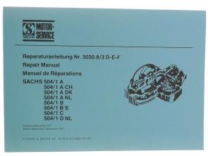 Sachs 504/1 Reparaturanleitung