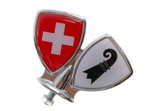 Schutzblech-Emblem Basel-Stadt