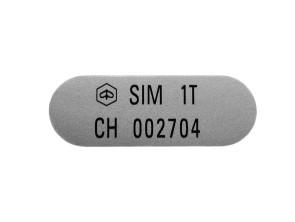 "Aufkleber ""SIM 1T / CH002704"" Piaggio Si (45x16 mm)"