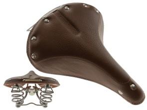 Sattel Leder dunkelbraun Tonnenfedern *Mofakult-Edition*
