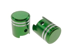 Ventilkappen Kolben grün