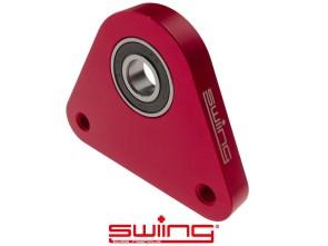 swiing Dreieck-Lagerplatte Racing Aluminium rot eloxiert Piaggio