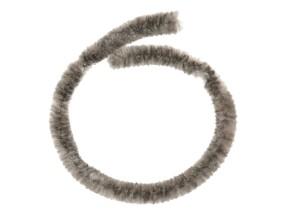Nabenputzer Textil silbergrau