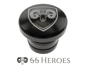 Tankdeckel Alu schwarz Piaggio rund (66Heroes)