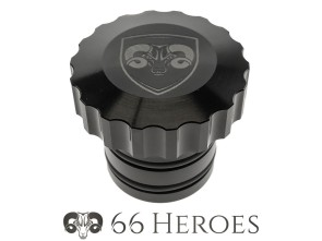 Tankdeckel Alu schwarz Piaggio perforated (66Heroes)