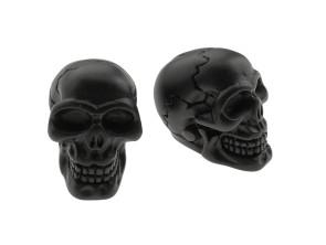 Ventilkappen Skull Custom schwarz