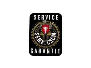 Aufkleber Service / Garantie transparent