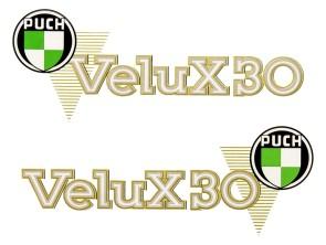 Aufkleber Puch X30 Velux (alte Ausf.)