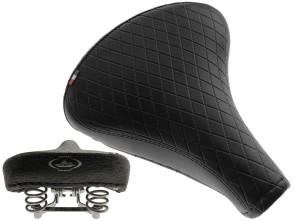 Sattel Comfort Raute schwarz (Tonnenfedern)