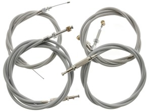 Kabelsatz geschnitten grau Puch Maxi mit Stellschrauben