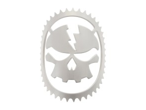 Lenkkopfschild (Kleber) Skull Head Alu blank