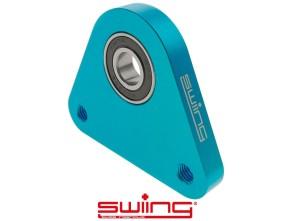 swiing Dreieck-Lagerplatte Racing Alu blau eloxiert Piaggio