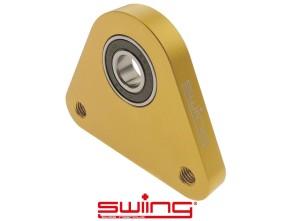 swiing Dreieck-Lagerplatte Racing Alu gold eloxiert Piaggio