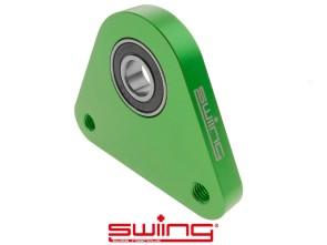 swiing Dreieck-Lagerplatte Racing Alu grün eloxiert Piaggio