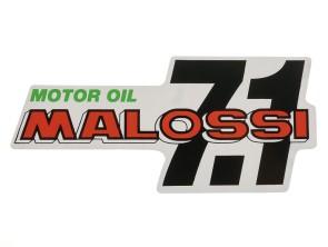 """""""Malossi Motor Oil 7.1"""" Kleber 14 x 6.5 cm"""