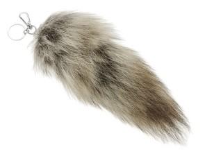 Fuchsschwanz Anhänger Coyote (Echtfell)