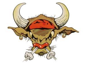 "Aufkleber ""Mad Bull"" (145x120 mm)"